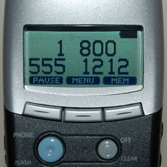 area code and phone number
